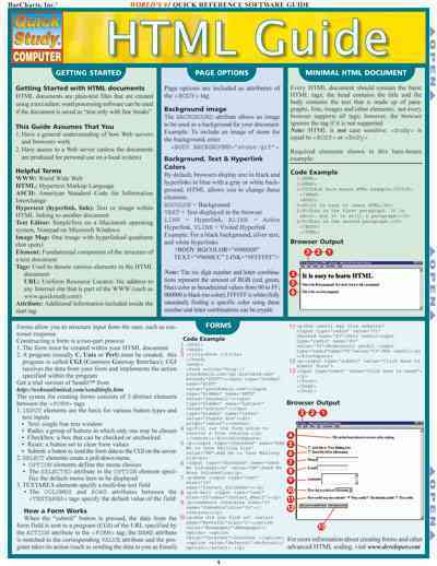 HTML Guide Quick Reference Guide By Barcharts, Inc. (COR)
